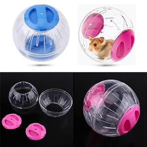 10cm Breathable Clear Ball Without Bracket Hamster Pets Product Small Running Ball 2Colors Plastic Fit For Small Pets Pink blue