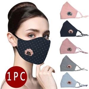 Маска Защитная с вышивкой для взрослых и женщин, дышащая моющаяся защитная маска для лица, многоразовая, из хлопка