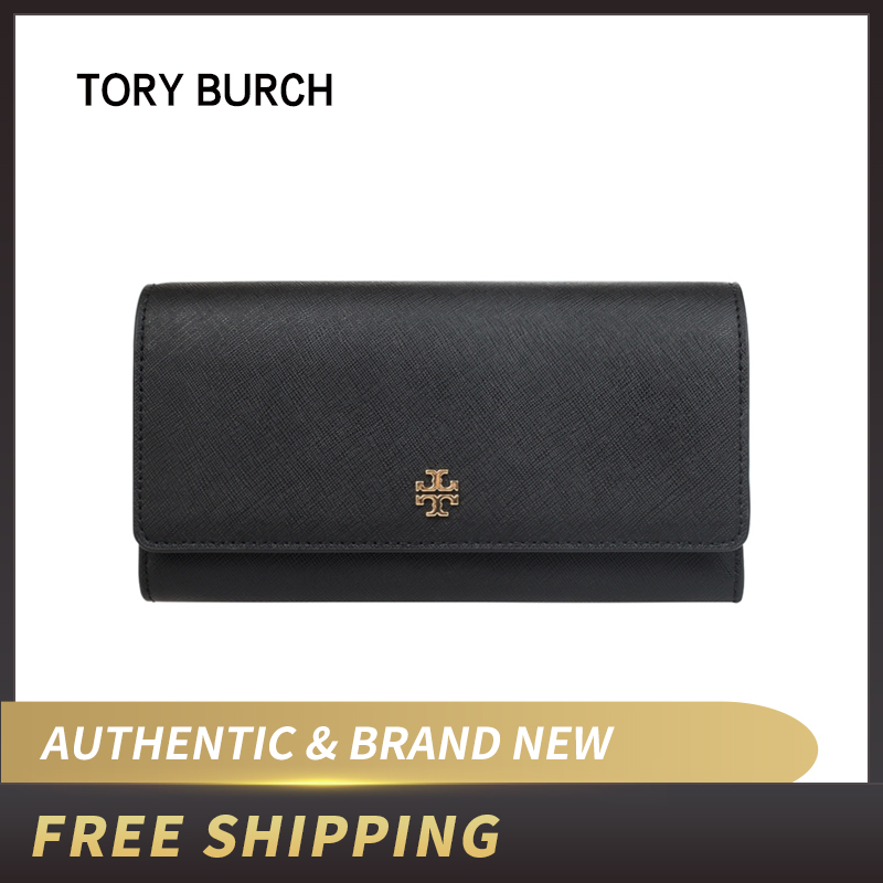 Authentic Original & Brand New Luxury Tory Burch Emerson Envelope Continental Wallet Saffiano Leather 46187