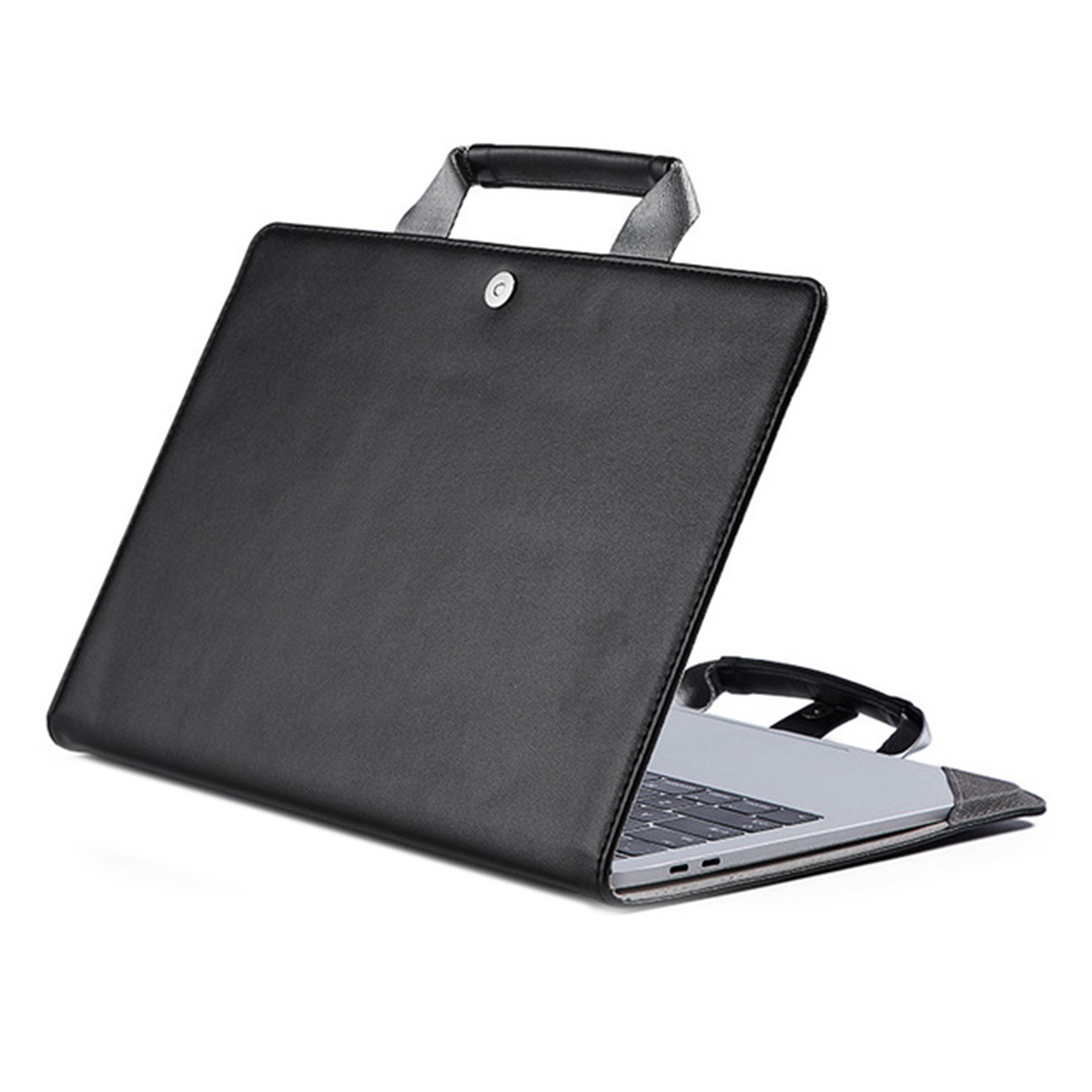 <font><b>Leather</b></font> Notebook Cover <font><b>Laptop</b></font> Case with Handle Waterproof Computer <font><b>Sleeve</b></font> for Macbook Air 12