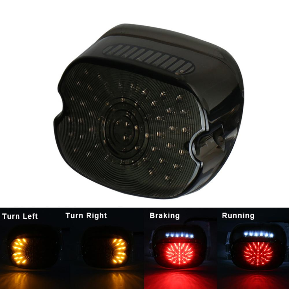 Discount  LED Tail Brake Stop Rear Turn Indicator Signal Light Lamp Taillight For Harley Softail Dyna Sportster flasher CSV