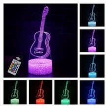 3D Lamp Led Night Light for Baby Sleeping Musical Instrument Table Lamp Home Decoration Gift for Birthday Xmas Valentine