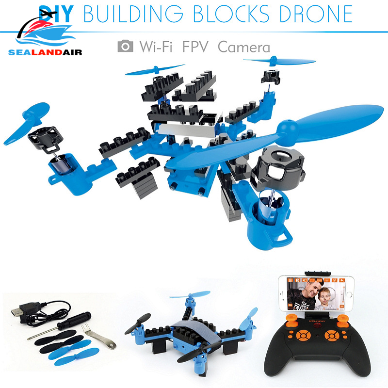 902 902HS RC Helicopter Fixed High DIY Drone Building Blocks 3D Bricks Quadcopter With WIFI Camera Assembling Multicopter Toys
