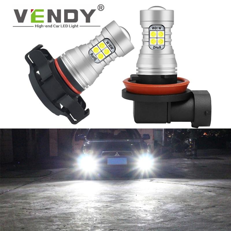 1pcs 12v Lâmpada LED Luzes de Nevoeiro Auto Lâmpada Para O Carro H8 H11 H16 9006 HB4 H10 9145 PSX24W 2504 9005 HB3 PSX26W P13W Branco 6000K