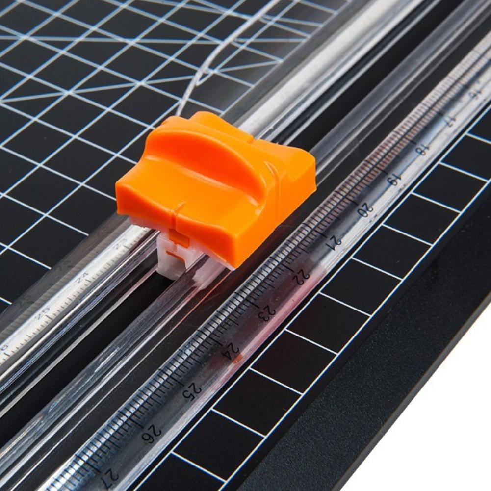 A4 Paper ABS Cutter Trimmer Photo Label Cutting Guillotine With Pull-out Ruler
