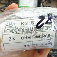 200 шт/лот новинка 3 Вт 5% серия металлический оксид пленка