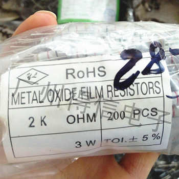 200pcs/Lot new 3W 5% series metal oxide film resistor DIP resistor free shipping new original 200pcs qrd1114 dip 4