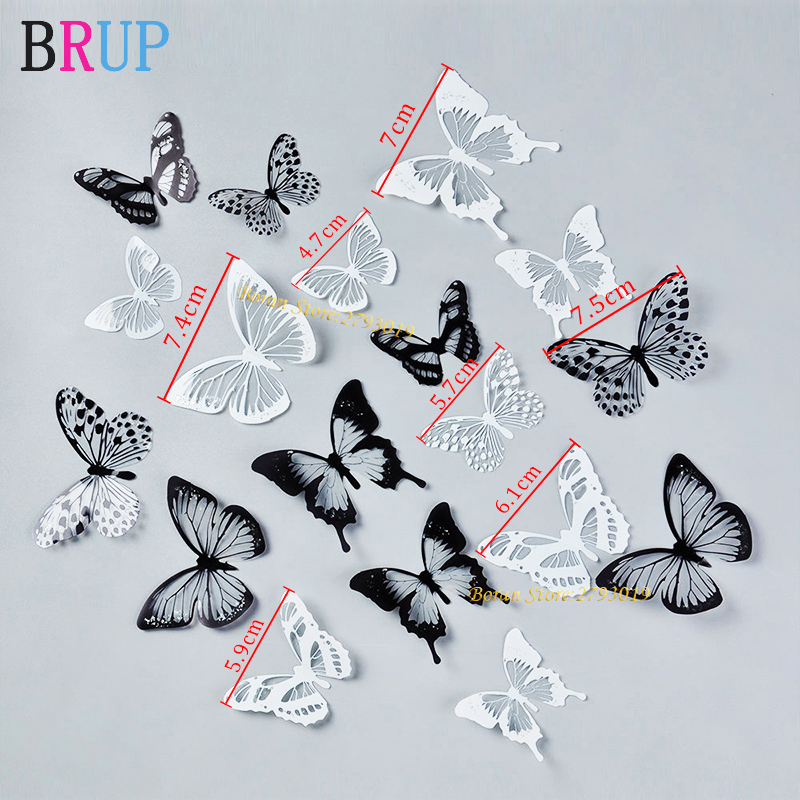 18pcs/lot 3d Effect Crystal Butterflies Wall Sticker Beautiful Butterfly for Kids Room Wall Decals Home Decoration On the Wall Hfe00ee8897f94e579a7b2f27b4ed811f9