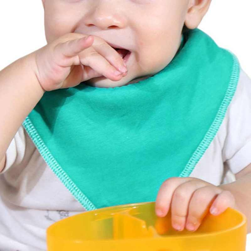 Bambino Bavaglini Impermeabili Bavaglini Triangolo Solido del Cotone Bambino Bandana Bavaglini Neonato Panno Assorbente