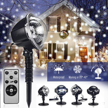 YINUO LIGHT New Mini Snowfall Projector Moving Snow Outdoor Garden Laser Projector Lamp Party Christmas Snowflake Laser Light