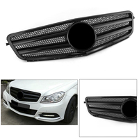C Class W204 Car Front Grill Grille For Mercedes Benz W204 C CLASS 2007 2008 2009 2010 2011 2013 2014 Gloss black