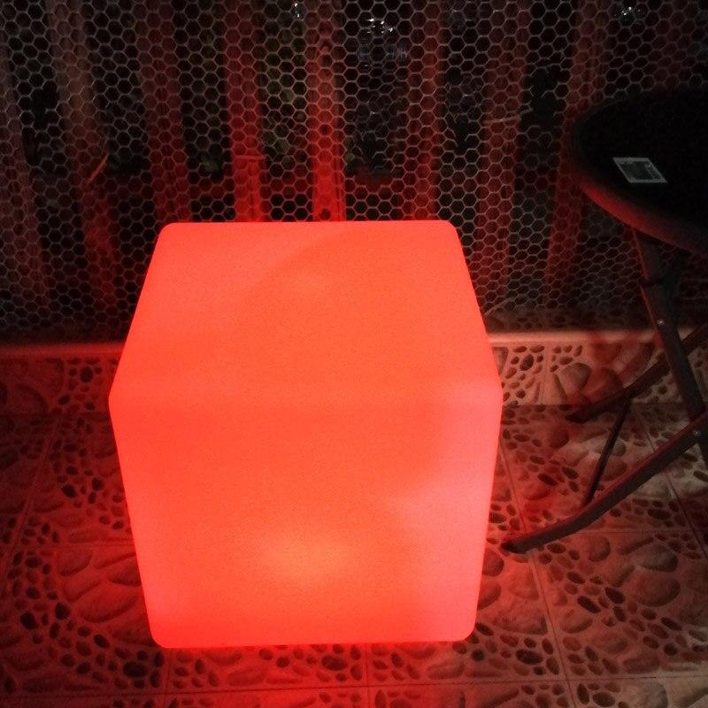 50 см 1,64 фута светящийся Led стул в форме Куба сиденье/световое кубическое сиденье/светящийся куб стул/табуретка куб. Сидение, бесплатная дост