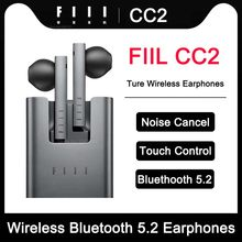 FIIL CC2 Wireless Bluetooth 5.2 Earphones ENC Call Noise Canceling Sport Headphones TWS Gaming Headset For Android Apple Huawei