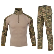 Tactical Camouflage Military Uniform Clothes Suit Men US Army clothes Military Combat Shirt   Cargo Pants Knee Pads