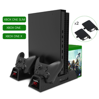 Cooling Fan Vertical Charger Stand Xbox Heat Sink Base For Xbox One /S/ XPro Accessories Dual Controller Charging Dock