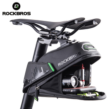 ROCKBROS Bicycle Bag Rainproof Shockproof Bike Saddle For Refletive Rear Large Capatity Seatpost MTB Accessories