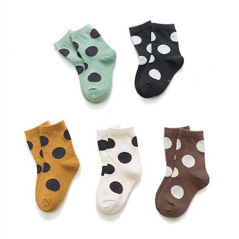 2020 New Breathable Different Touch 5 Pairs Boy Girl Cotton Crew Ankle Socks Lot Casual Fashion 1-8 Years Baby Toddler Kids