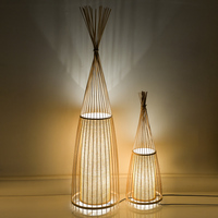 Ancient Creative Decoration Chinese Wooden Bamboo Floor Lamps Bedside Standing Staande Lamp Led Floor Lamp For Living Room Vloer