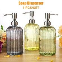 Dispensador de shampoo de sabão para cozinha, garrafa de sabão líquido em aço inoxidável para banheiro e cozinha