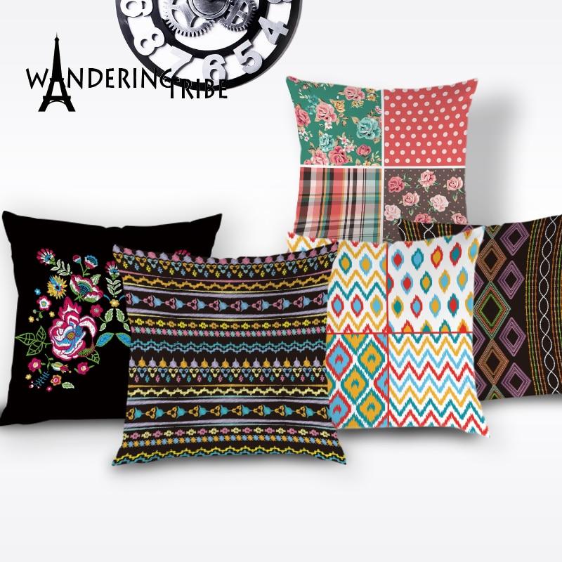"Decor Flower Home 18/"" Pillow Linen Cat Car Sofa Cushion Cover Waist Cotton Case"