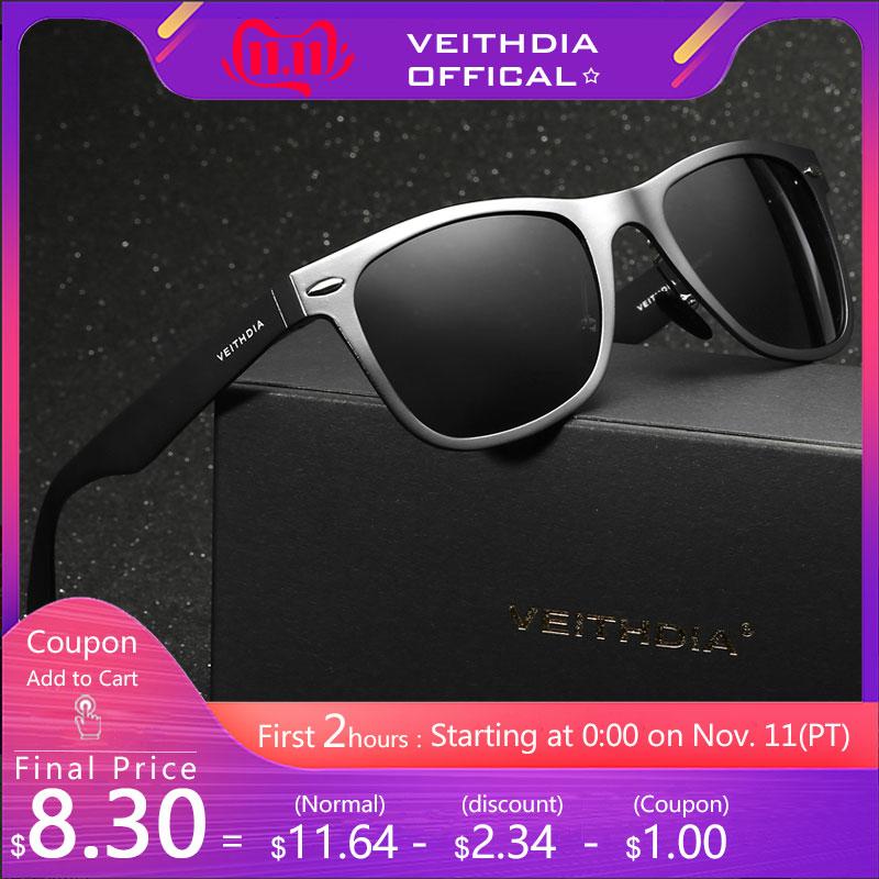 VEITHDIA HD Polarized Sunglasses Men 2016 New Arrival Brand Design Eyes Protect Sun Glasses With Box gafas de sol hombre 2140