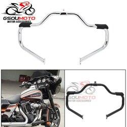 Barre de pare-choc pour moteur pour moto, Rail haute voie, pour Harley Touring Road King Electra Street slide Ultra FLHR FLHX 09-17