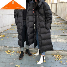 Coat Female Winter Male Fashion 20% Duck Down Jacket Men Hooded Thick Warm Long Women's Jackets Abrigos Hiver 929009LW994(China)