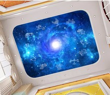 Custom 3D Photo Wallpaper ceilings Starry sky twelve constellation starry painting
