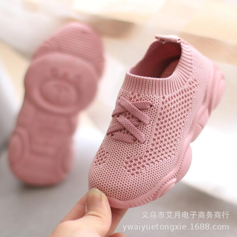 2019 New Spring Autumn Baby Casual Children Shoes Fashionable Net Breathable Soft Sports Walking Shoes