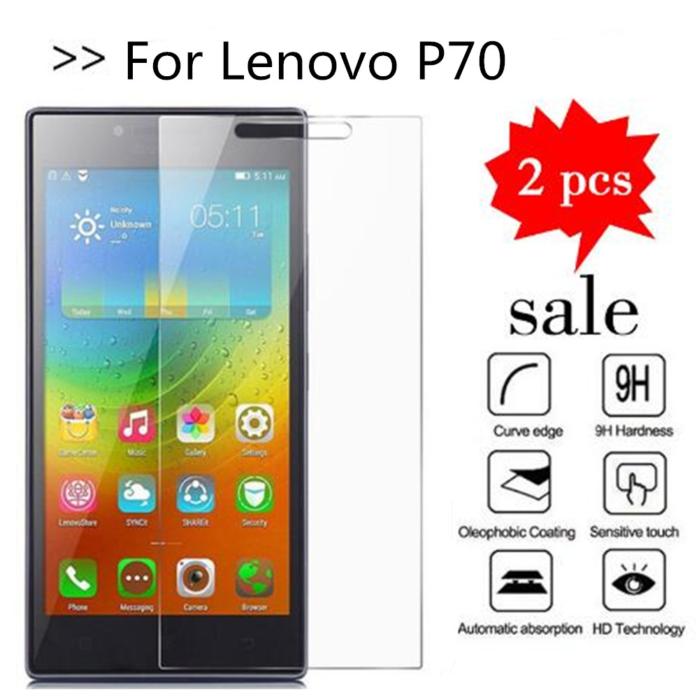 2PCS Glass For Lenovo P70 Screen Protector Tempered Glass For Lenovo P70T P70A P70-T P70-A Protective Film