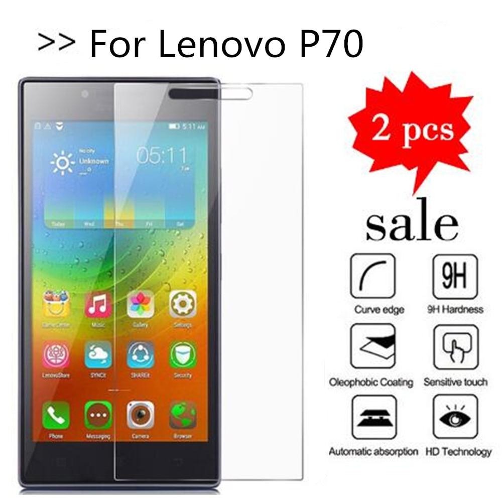 2PCS Glass For Lenovo P70 Screen Protector Tempered Glass For Lenovo P70T P70A P70-T P70-A Protective Film