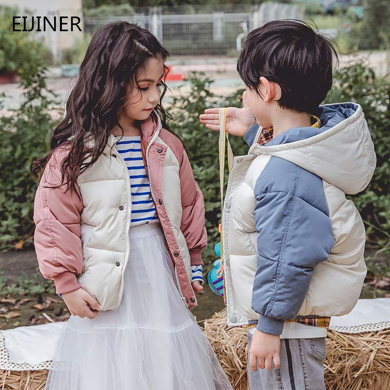 Boys Winter Coat Jackets Outerwear Toddler Baby-Girls Children Fall Spring Cotton Hooded