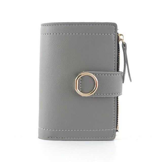 Women Wallets Small Fashion Brand Leather Purse Women Ladies Card Bag For Women 2019 Clutch Women Female Purse Money Clip Wallet 4