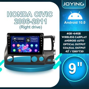 9Autoradio Head Unit Android 10 CarRadio Stereo GPS Multimedia Player Wireless Carplay 4G For Honda Civic 2006 2011 Right Drive image