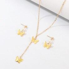 YWZIXLN 2020 Boho Classic Butterfly Pendant Fashion Necklaces Bijoux For Women Elegant Choker Jewelry N039 ywzixln boho charm alloy metal bead decor fashion necklaces bijoux for women elegant choker jewelry n048