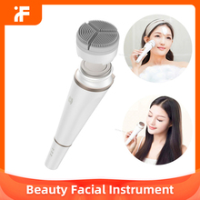 Facial-Instrument Skin-Care-Massager Face Deep-Cleansing Beauty Sonic 2-In-1