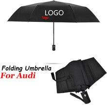 Sunshade Parasol Car-Logo Automatic-Umbrella Audi Business for A1 A3 A4 B5 B6 B7 B8 A5