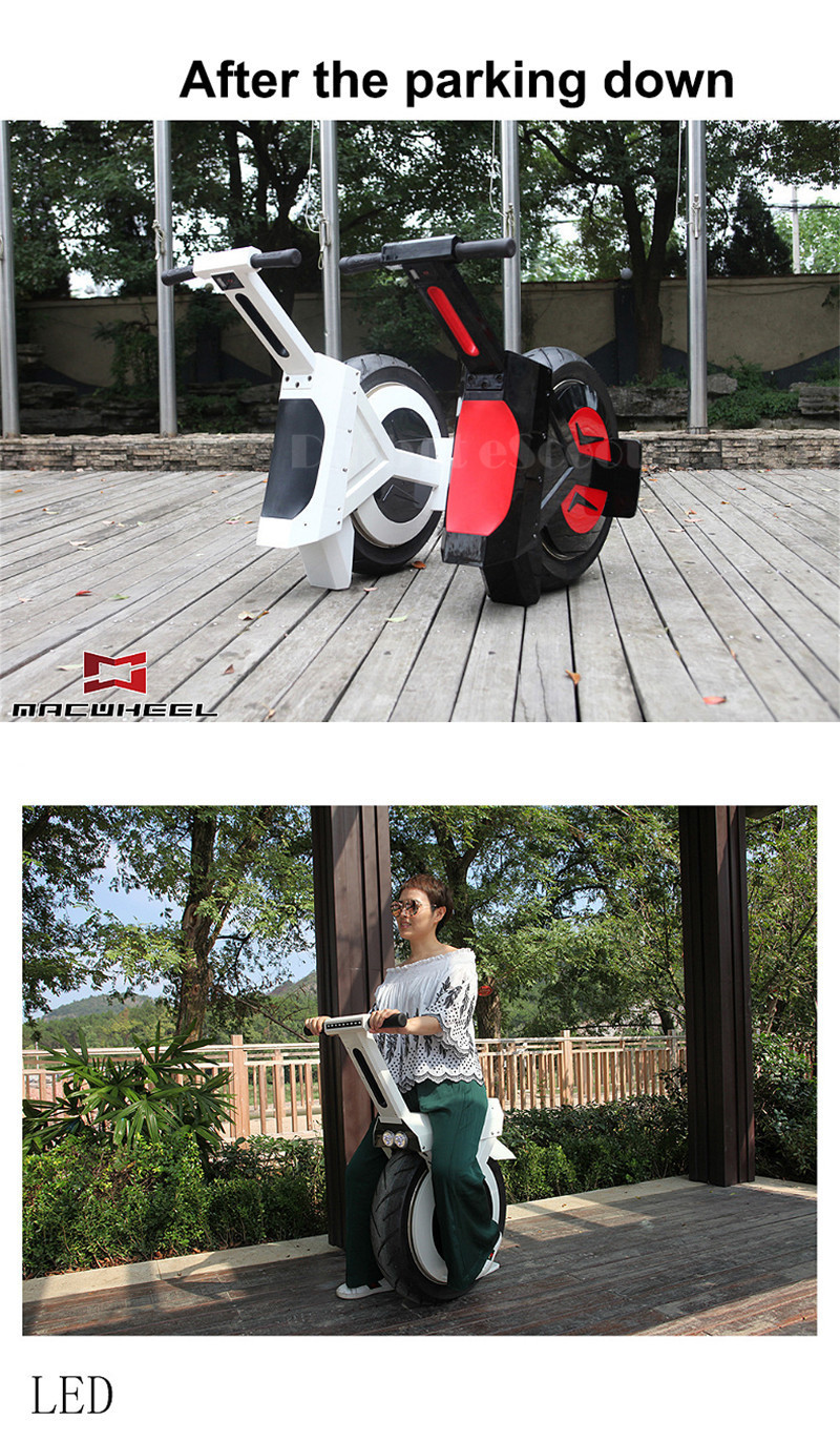 Daibot Monowheel Electric Unicycle One Wheel 17 Inch Electric Scooters Motor 500W 60V Electric Monowheel Scooter For Adult       (3)