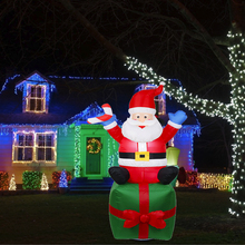 1pcs 1.8 m 귀여운 inflatables 산타 클로스 크리스마스 선물 패키지 거대한 호텔 airblown 산타 클로스 새해 가정 장식 크리스마스 장식