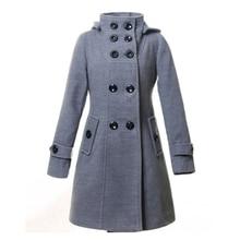 liva girl 2019 Hot Winter Spring women woolen coat female double-breasted hooded windbreaker Dust