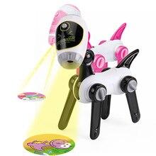 Karikatür köpek şekli çocuk boyama projeksiyon oyuncaklar çocuklar eğlenceli boyama oyuncak erken çocukluk eğitici oyuncak ışık ile