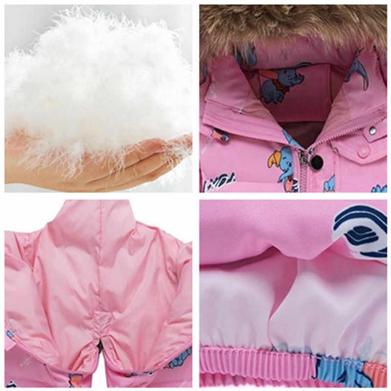 Meninas casaco de inverno, meninas pato para baixo casaco definido para meninas jaqueta quente crianças snowsuit parka roupas de pele real crianças, outerwear,