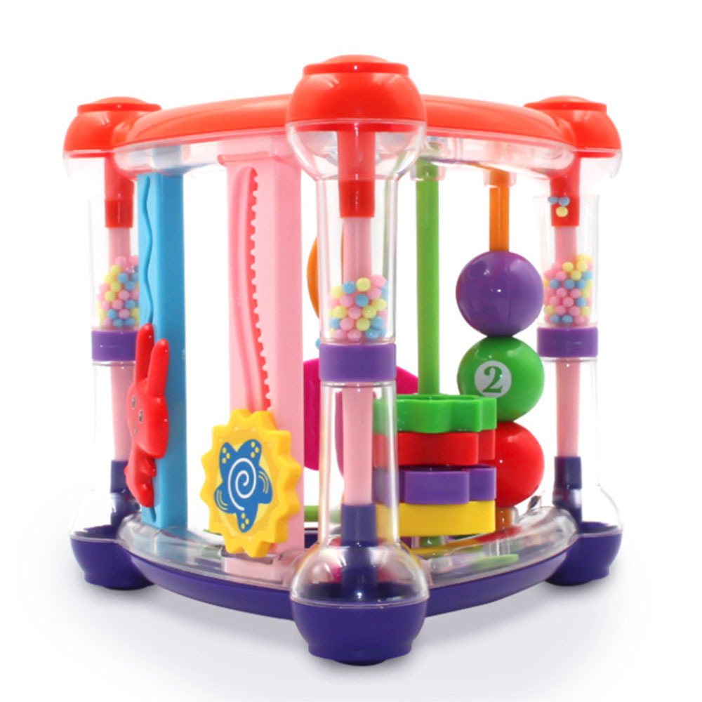 Multi-function Enlightenment Fram Infant Baby Activity Play Cube Toys Infant Development Educational Hanging Toys Rattle Toy