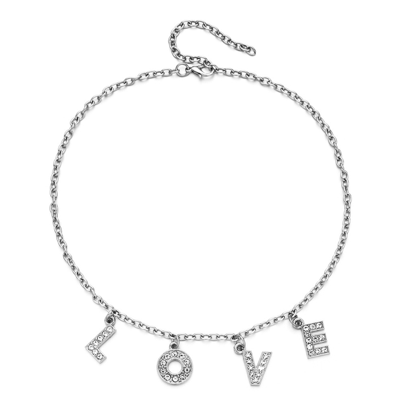 Hfe037d57a19f4cf2827fbc3f556220bf3 - Harajuku Letter Crystal Angel Necklace Women Jewelry Couple Gift Necklace BABY HONEY Choker Femme Punk Collier Drop Ship