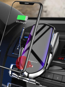 Sensor Clamping-Phone-Holder Car-Charger Infrared Automatic iPhone 11 Samsung S10 Wireless