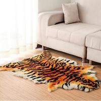 Thick Large Size Fluffy Area Rug Tiger Fur Imitation Carpet Living Room Bedroom Carpet Blanket Faux Fur Blanket Fur Wool Mat