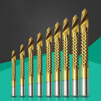 HSS wiertła kobaltowe gwint śruba spiralna metryczne kompozytowe dotknij Twist drewno żelazo metalowe dziurkowanie dłutowanie wielofunkcyjne wiertło tanie i dobre opinie SUOYITR Woodworking Rohs Wiertło spiralne CN (pochodzenie) 10cm Do wiercenia w drewnie Drill Bit02 STAL SZYBKOTNĄCA Cobalt Drill Bit Set