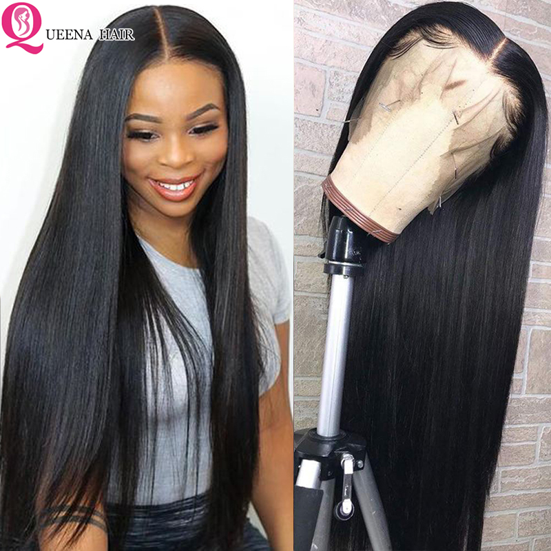 28 30 Inch Straight Lace Front Human Hair Wigs For Black Women 13x6 360 Transparent Lace Frontal Wig 13x4 Brazilian Lace Wigs