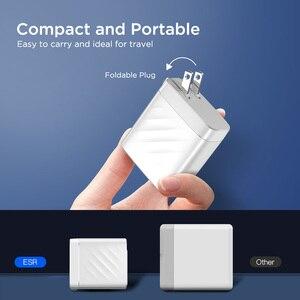 Image 5 - ESR PD Ladegerät 36W Dual Port Protable Reise Ladegerät für iPhone Samsung für iPad Xiaomi Typ c Schnelle lade Adapter USB C Ports