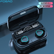 Waterproof Earbuds Headsets Earphones Tws Bluetooth Sports-V5.1 Microphone-Charging-Case